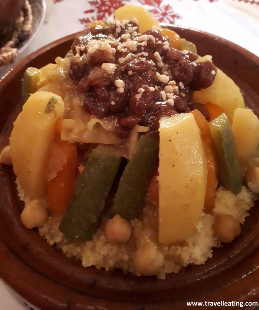 Cuscús de verduras del Palais Lairachi.
