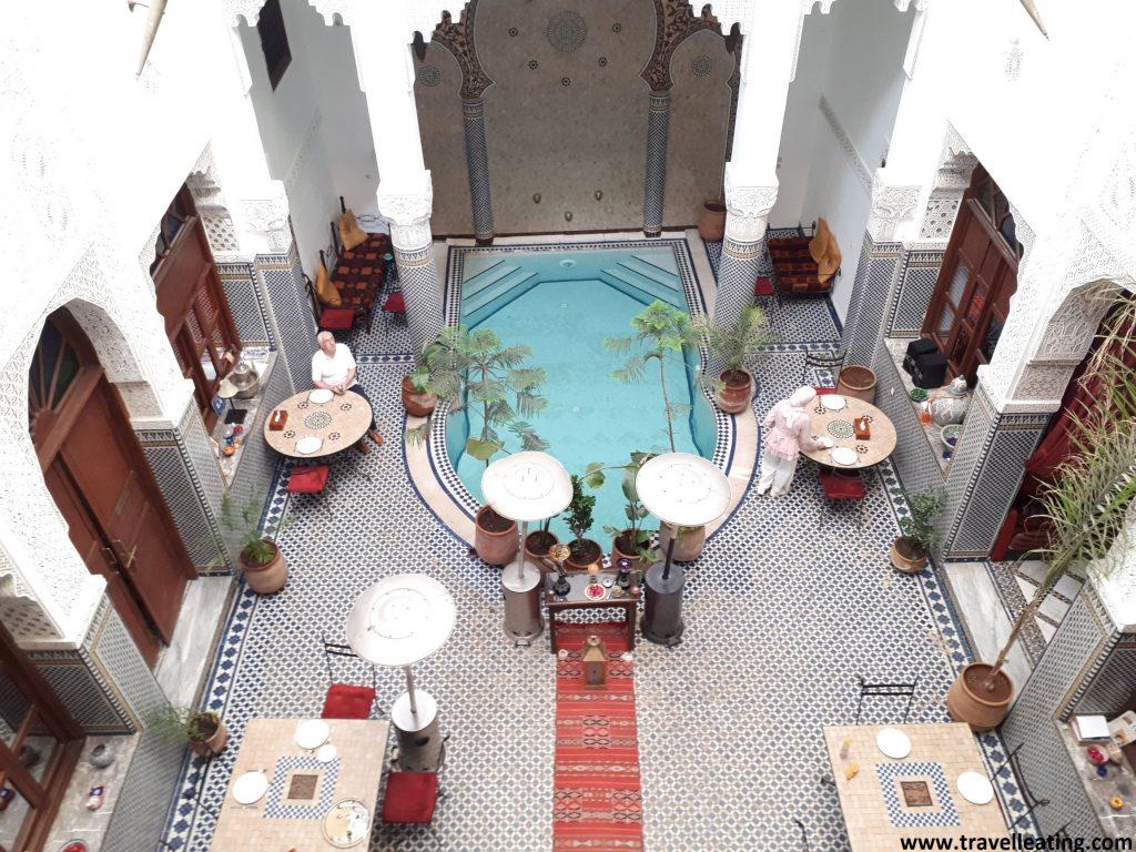Patio interior del Riad Jamai, en Fez.