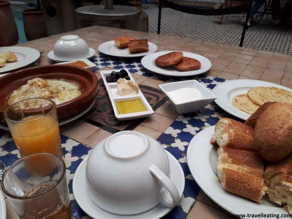 Desayuno del Riad Jamai, en Fez.