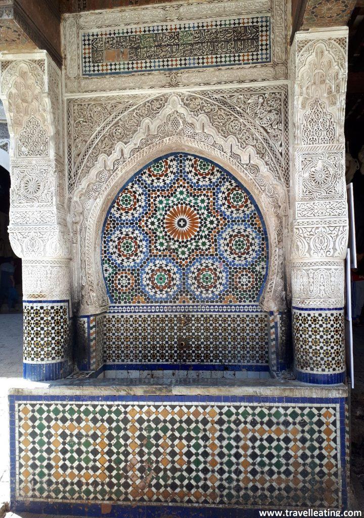 Fuente el-Nejjarine, una de las fuentes más bonitas de la medina de Fez.