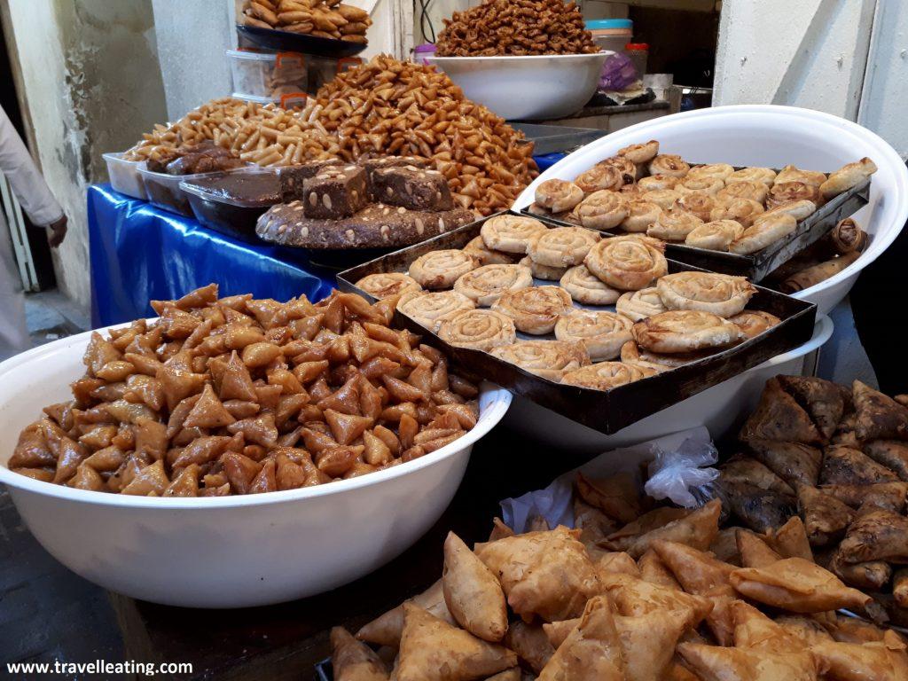 Pastelitos dulces marroquíes.