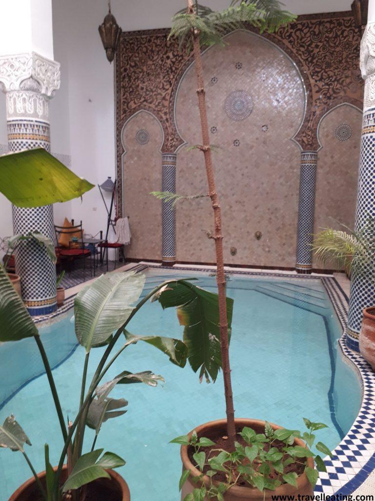 Patio interior de nuestro riad en Fez, riad Jamai.