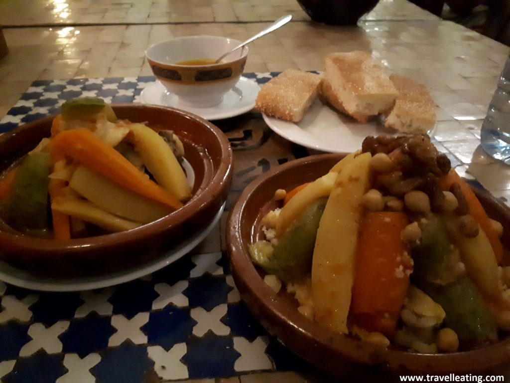 Tajine y cuscús de verduras.