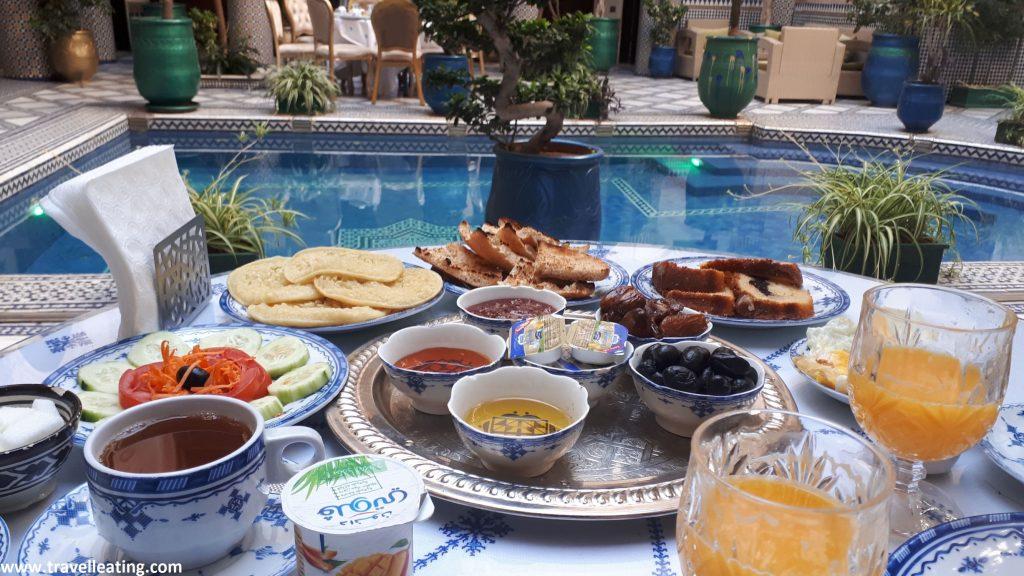 Desayuno del Riad Salam, en Fez.