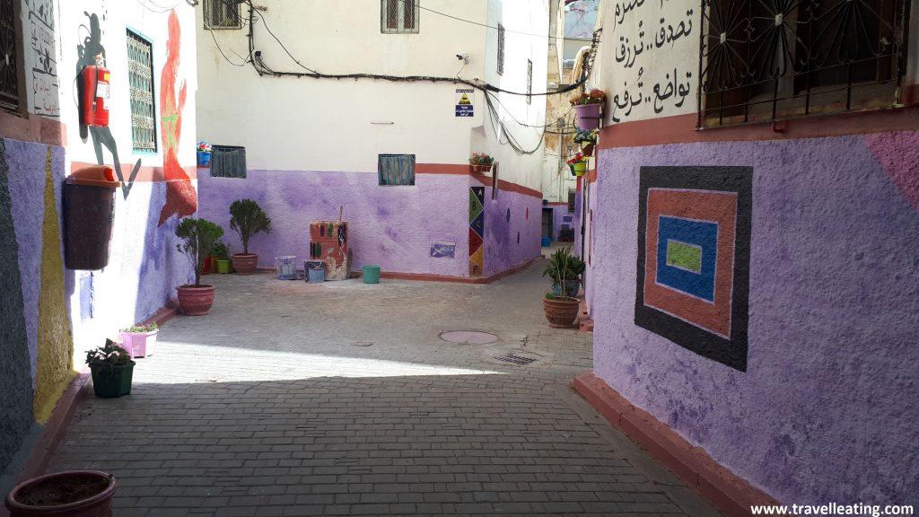 Callejuelas del barrio judío de Fez.