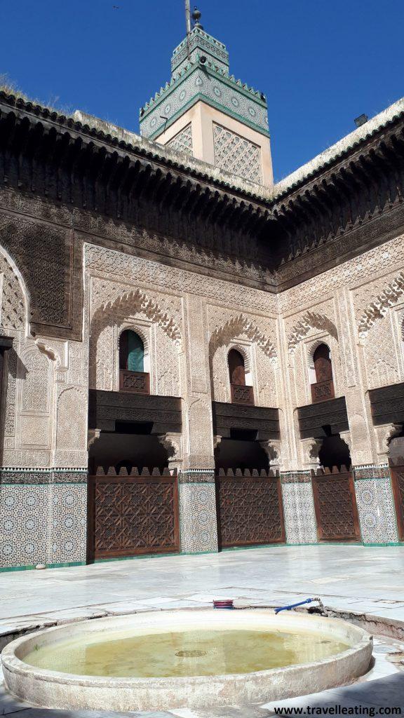 Patio interior de la Madrasa Boun Inania, Fez.