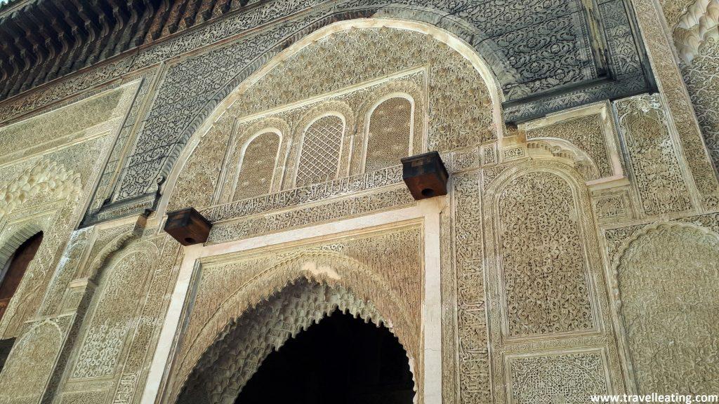 Arquitectura de la Madrasa Bou Inania, Fez.