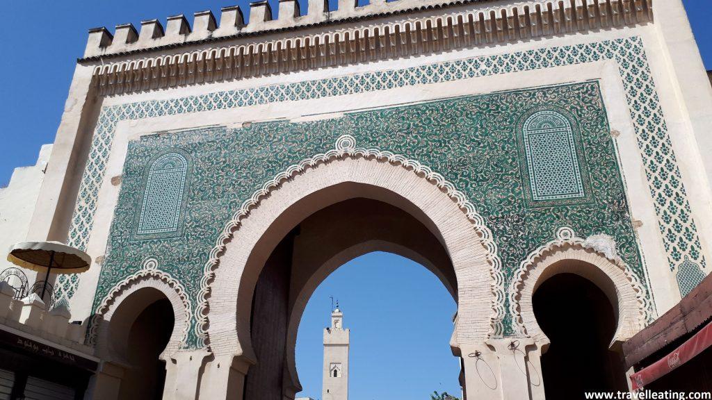 La Puerta Azul de Fez des del interior de la medina.