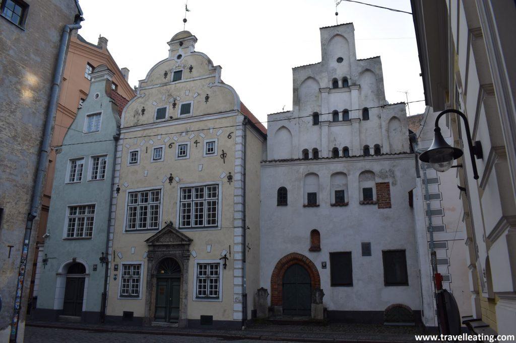 Los Tres Hermanos, unas de las fachadas más bonitas de Riga.