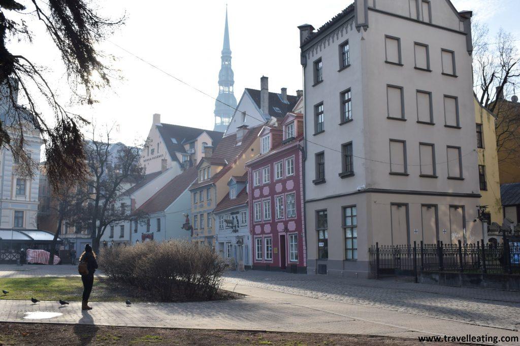 Plaza Livu, en el casco anitguo de Riga.