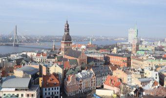 Centro histórico de Riga desde la Iglesia de San Pedro.