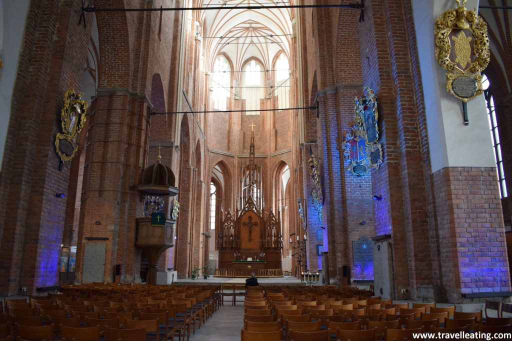 Interior de la Iglesia de San Pedro, Riga.