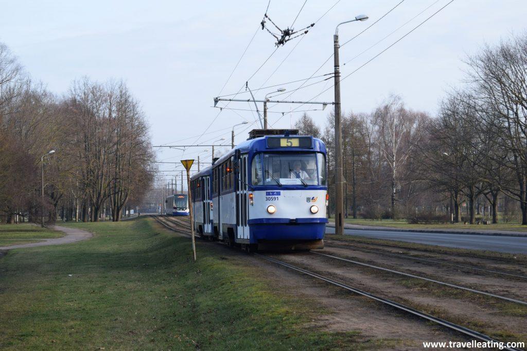 Tranvía de Riga.