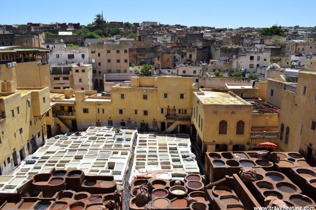 Curtiduría Chouwara, la mayor curtiduría de Fez.