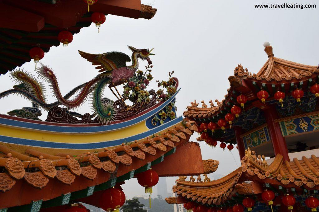 Detalles del Templo Thean Hou.