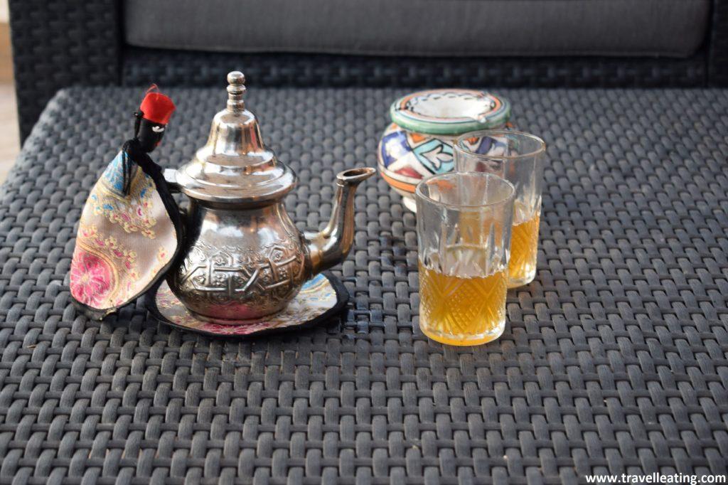 Té de menta, la bebida típica de Marruecos.