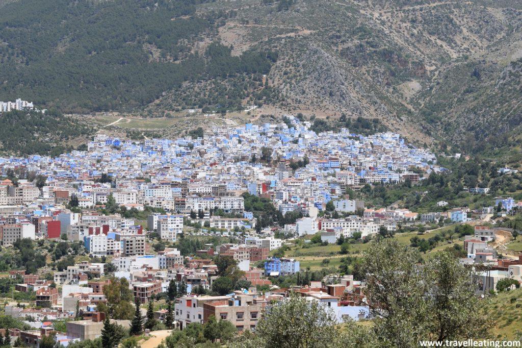 Vistas de la ciudad azul de Chefchaouen.