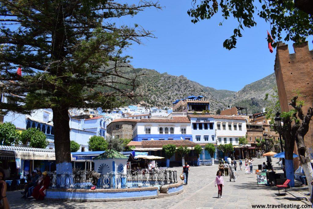 Plaza Uta-el-Hammam, la plaza principal de Chefchaouen.