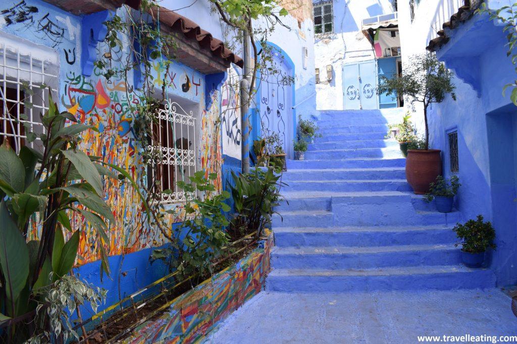 Rincones de Chefchaouen, la ciudad azul de Marruecos.