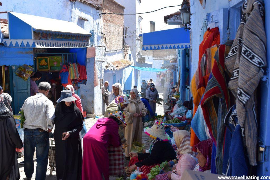 Mercado de Chefchaouen.
