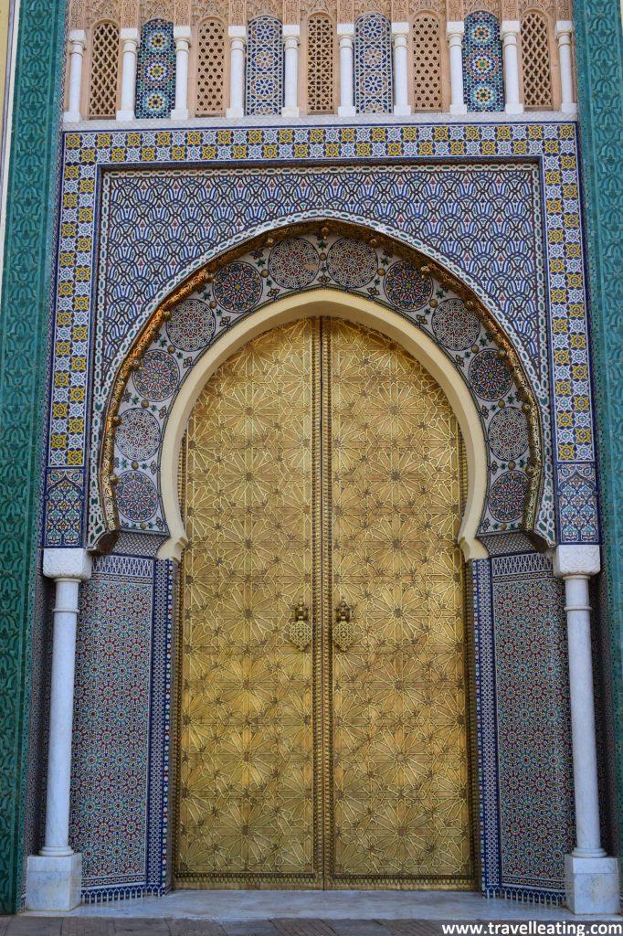 Puerta del Palacio Real de Fez.