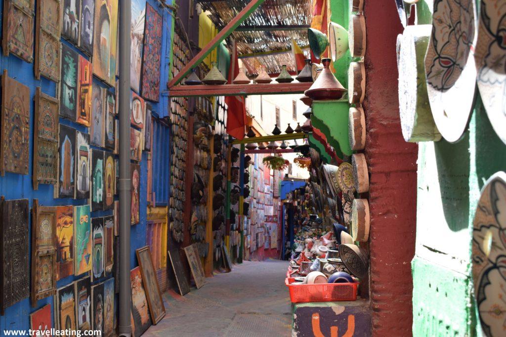 Rainbow Street art, en la medina de Fez.
