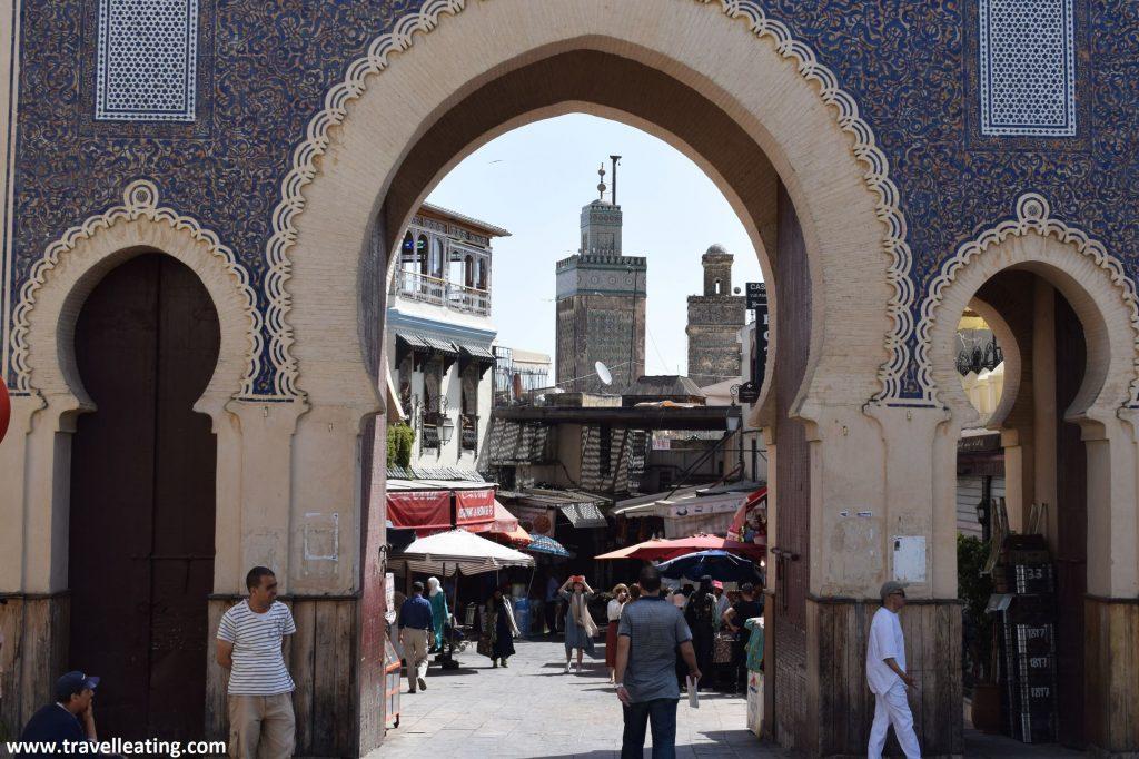 La Puerta Azul de Fez, la entrada principal a la Medina.
