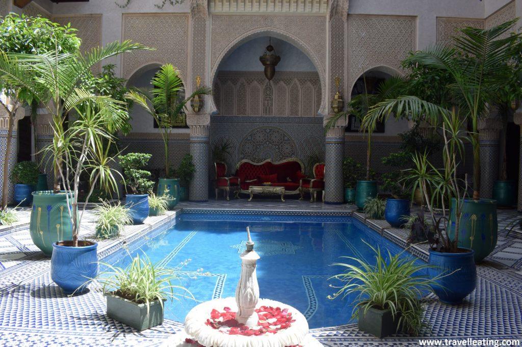 Patio interior del Riad Salam, en Fez.