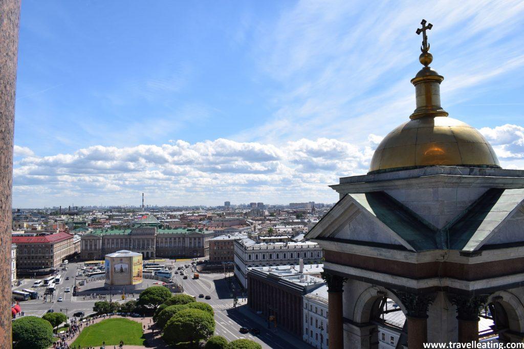 Vistas de la ciudad de San Petersburgo des del mirador de la cúpula de la Catedral de San Isaac.