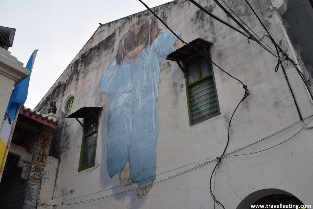"""""""Kung Fu Girl"""", mural callejero de Georgetown."""