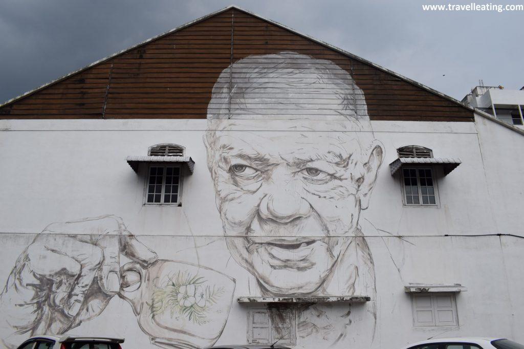Uno de los murales más conocidos de Ipoh.