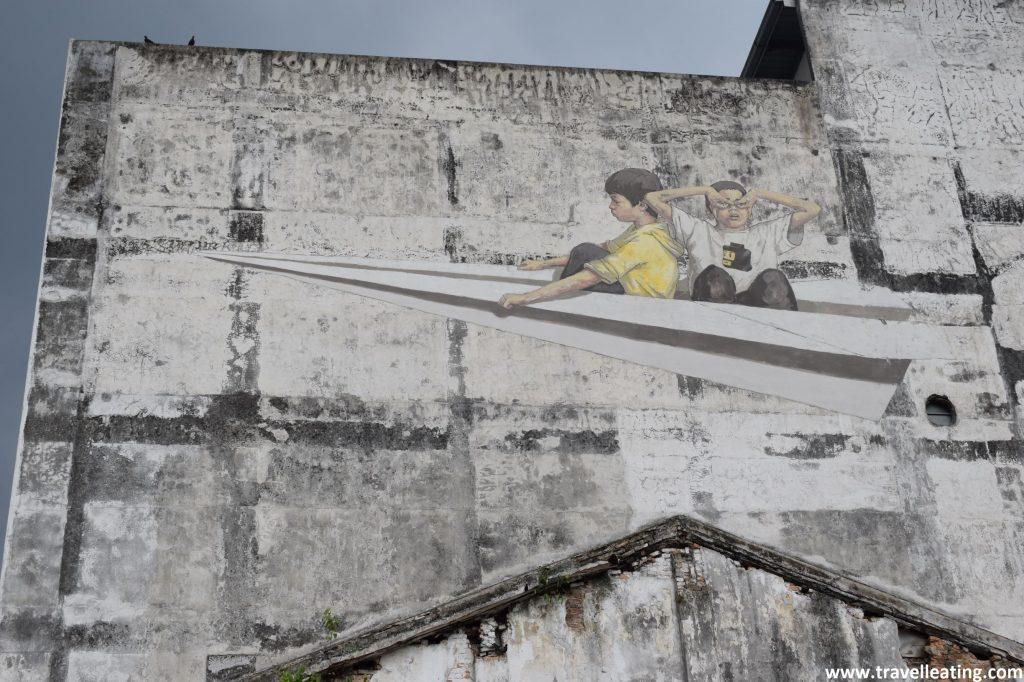 Arte callejero en Ipoh.