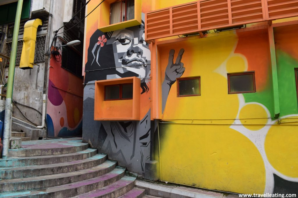 Street art en Kuala Lumpur.
