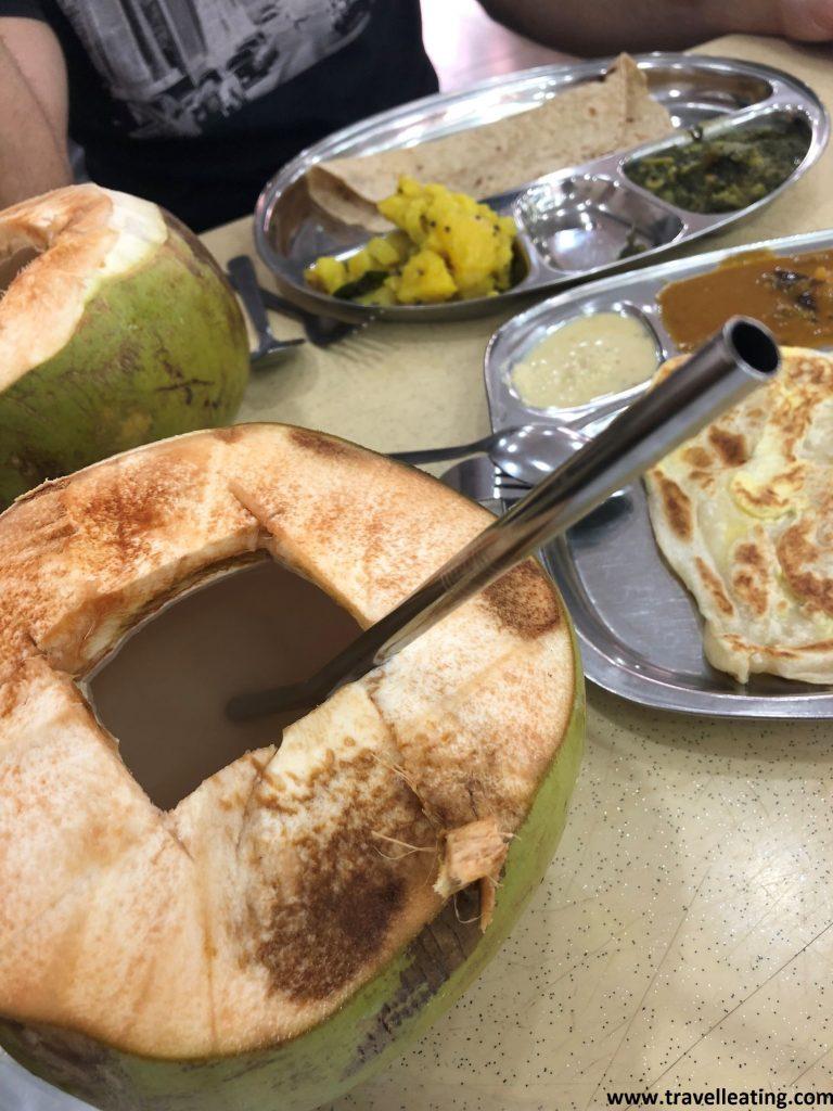 Nuestro primer desayundo, en un hindú.