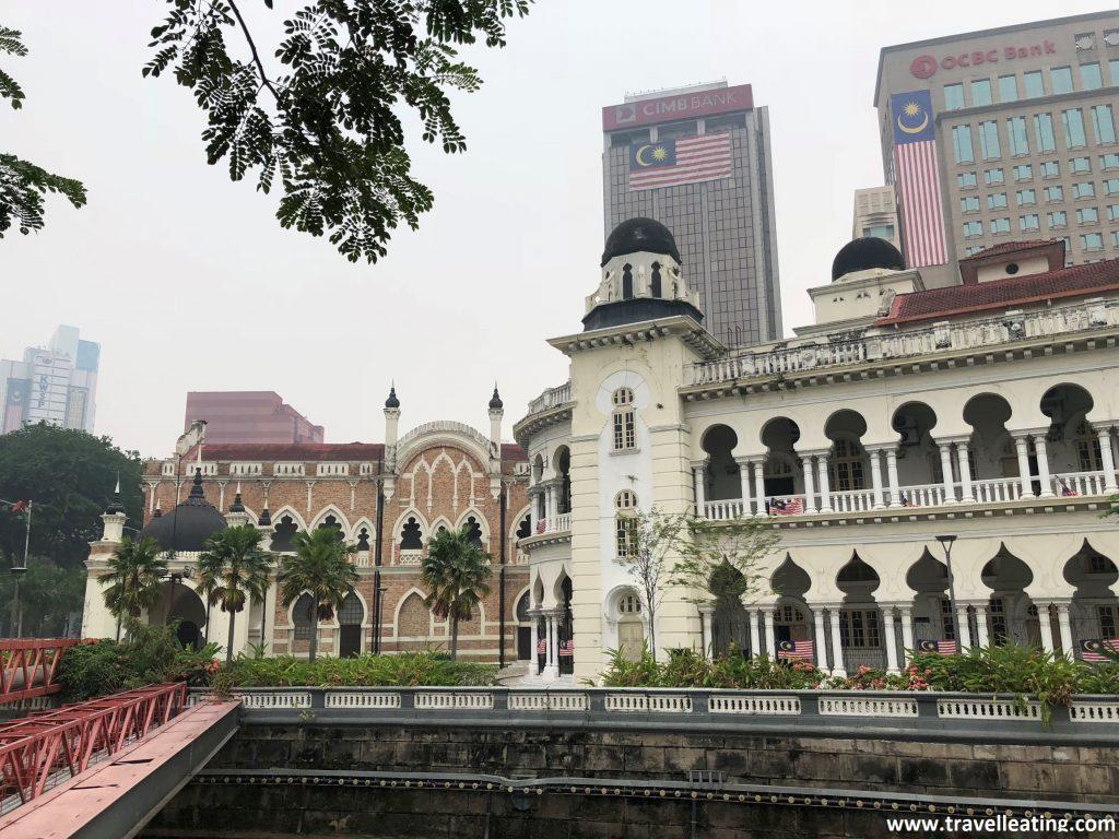 Zona de casas coloniales en Kuala Lumpur.