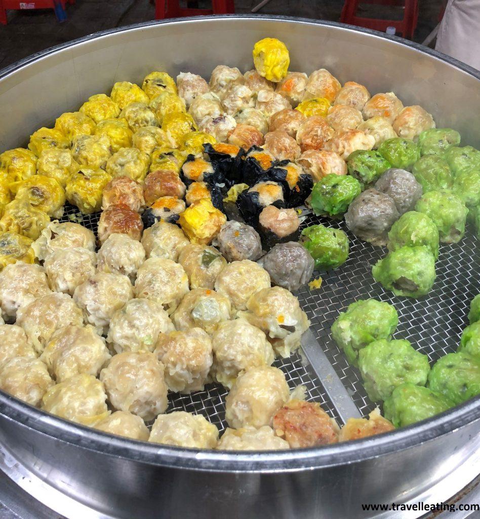 Dumplings varios.