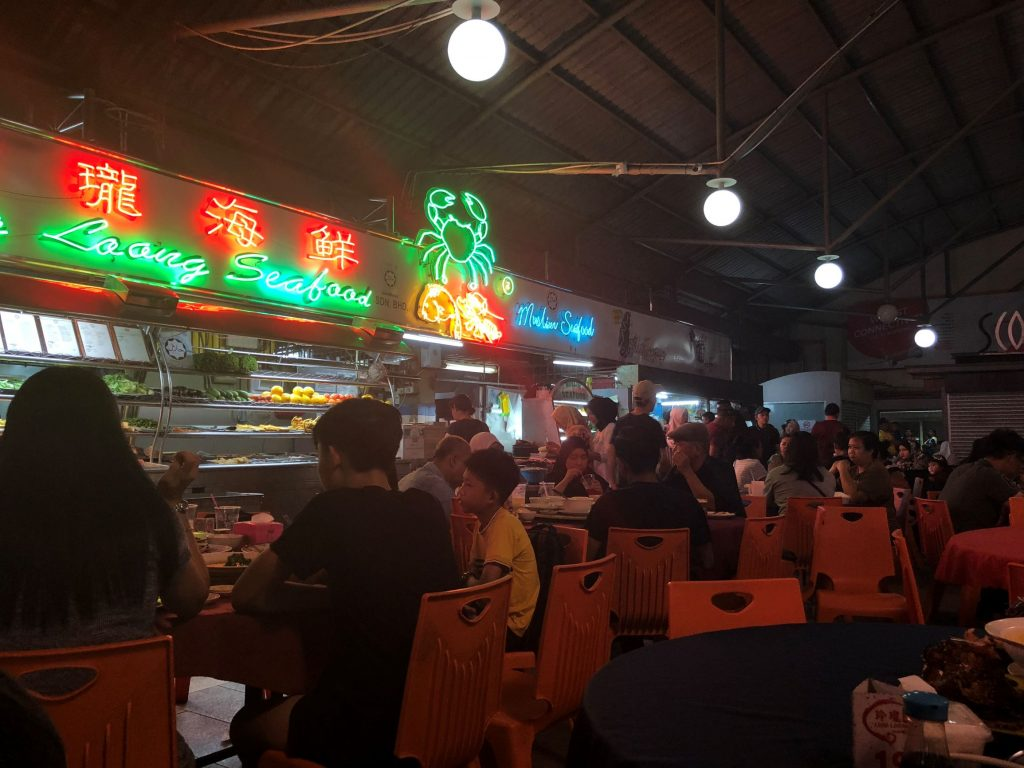 Topspot Food Court, Kuching.