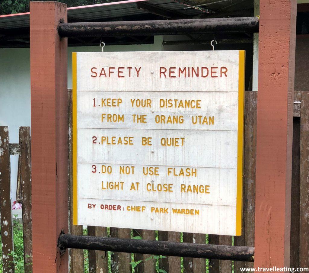 Normas de seguridad del parque.