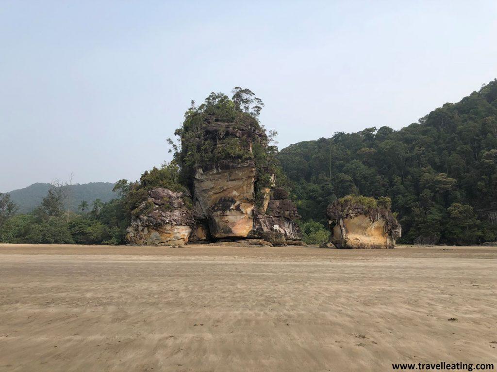 Teluk Assam, playa principal del Parque Nacional de Bako.