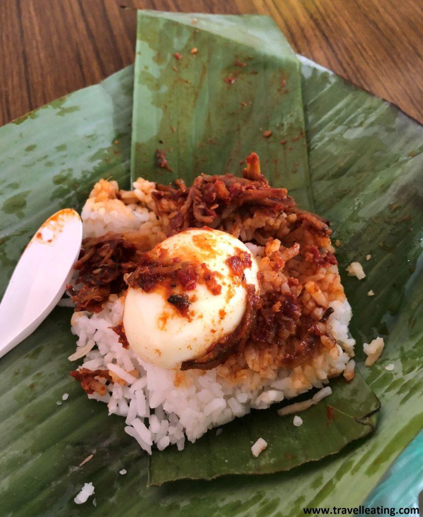 Nasi lemak, plato local de Penang.