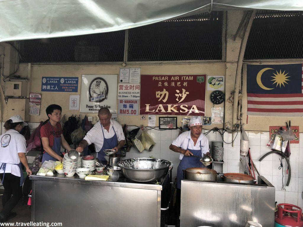 Pasar Air Itam Laksa, uno de los mejores lugares donde comer Assam laksa.