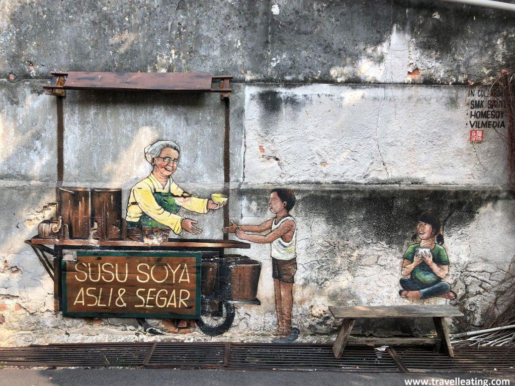 Street art en Georgetown, Penang.
