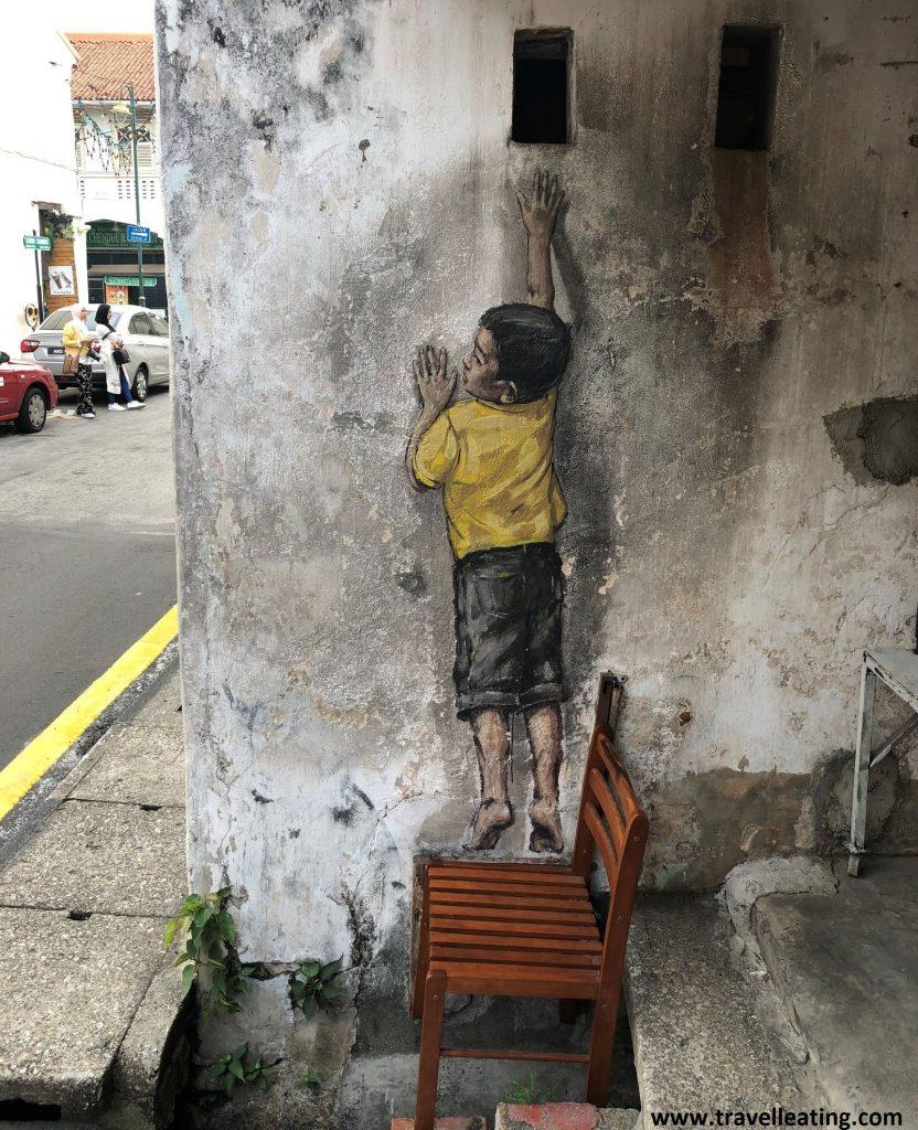 Otras obras de arte callejeras de Georgetown, Penang.