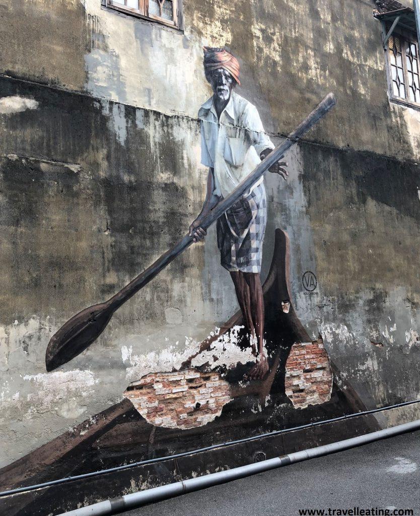 Street art en Georgetown, Malasia.