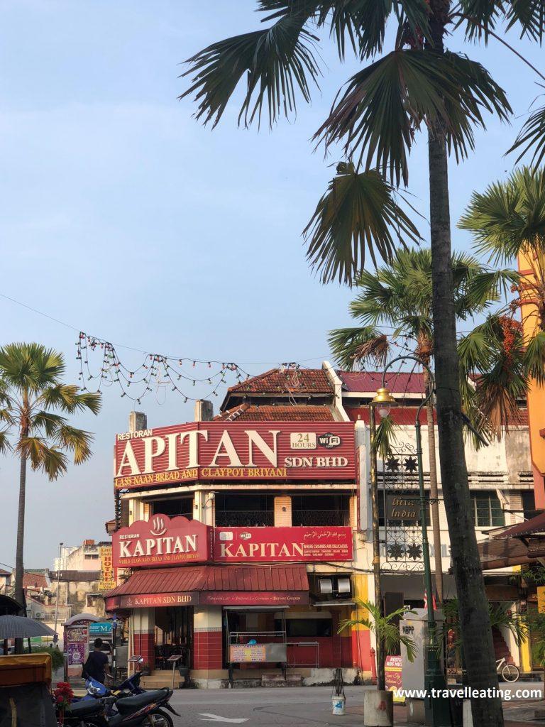 Kapitan Restoran. Restaurante indio muy popular en Georgetown.