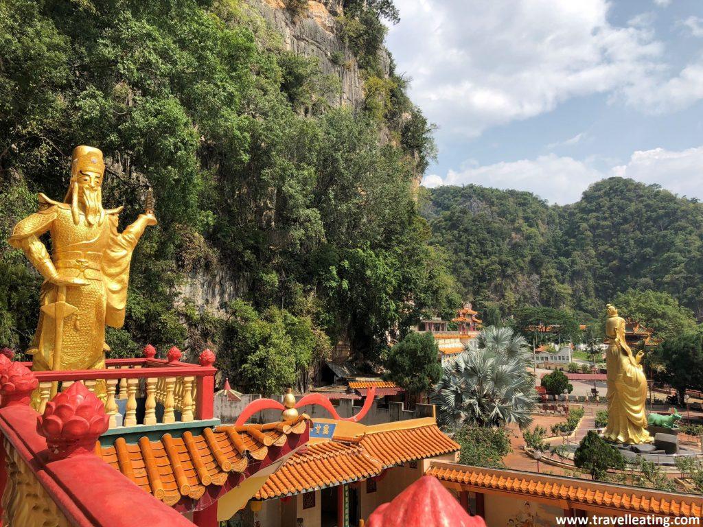 Vistas des del Templo Ling Seng Tong. En las afueras de Ipoh. Malasia