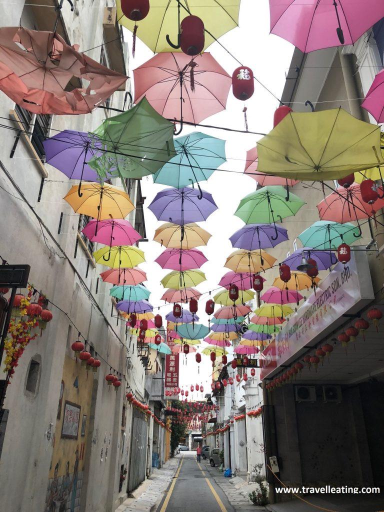 La calle de los paraguas de Ipoh. Malasia