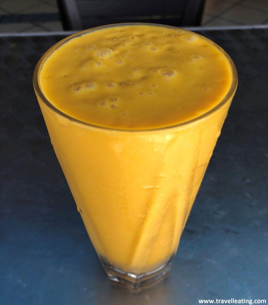 Mango lassi del Restaurante Kumar, de Tanah Rata.