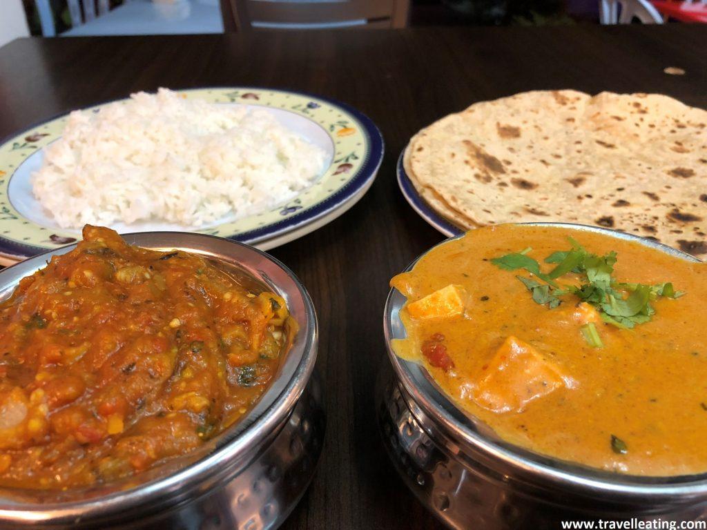 Nuestra cena en el Singh Chapati. Uno de los mejores restaurantes de Tanah Rata, Cameron Highlands.