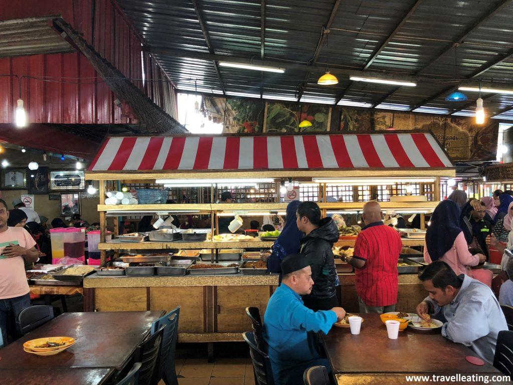 Buffet del Orchid Food Corner en Tanah Rata, Cameron Highlands.